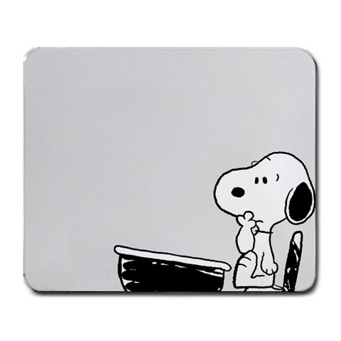 Quizzical Snoopy By Thaddeus Trinh   Large Mousepad   S347pj0z8sfa   Www Artscow Com Front