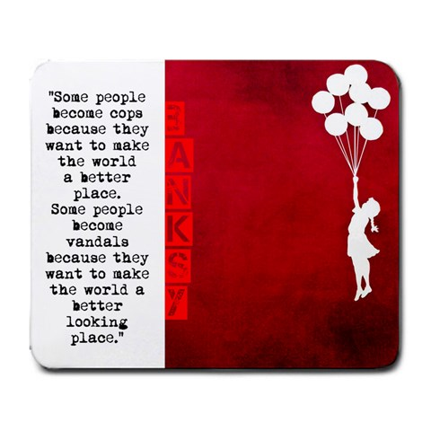 Banksy By Cesar Aguilos   Large Mousepad   4kuvy147snk8   Www Artscow Com Front