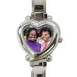 Queen s Birthday gift - Heart Italian Charm Watch