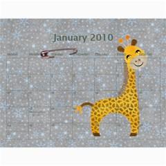 Sydnie Calender By Diana Davis   Wall Calendar 11  X 8 5  (12 Months)   Jz1sxio4nozk   Www Artscow Com Jan 2010