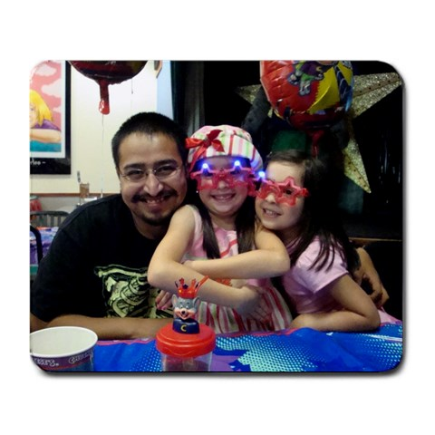 Luis & Girls   Chucke Mouse Pad By Julie Rodriguez   Large Mousepad   8nbwa4sf3olj   Www Artscow Com Front