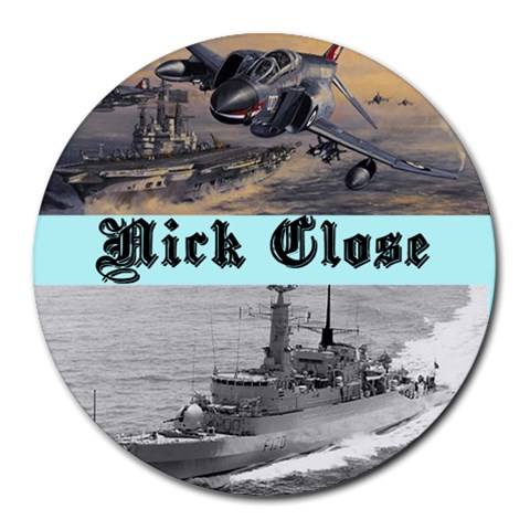Nick By Nick Close   Collage Round Mousepad   Hsc1m5tofe42   Www Artscow Com 8 x8 Round Mousepad - 1