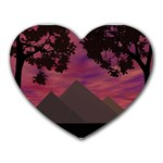 Romantic Egypt - Heart Mousepad