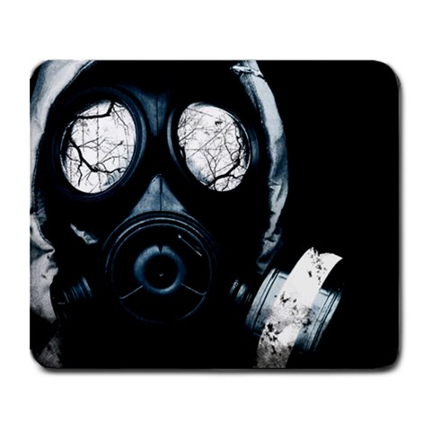 Gas Mask By Harrison Highsmith   Collage Mousepad   Lpzrrgqfzbs7   Www Artscow Com 9.25 x7.75 Mousepad - 1