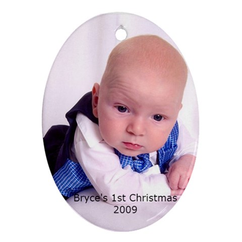 Bryce s Ornament By Sarah   Ornament (oval)   Y1x2wghoxzv5   Www Artscow Com Front