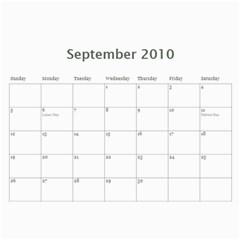Calendar By Babyblueangel   Wall Calendar 11  X 8 5  (12 Months)   P7mgam8eu7dc   Www Artscow Com Sep 2010
