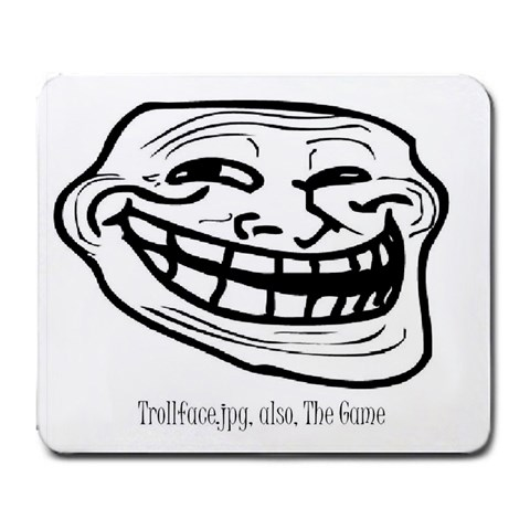 Trollface Jpg, The Mouse Pad By Callan   Large Mousepad   Ajd00miwkyab   Www Artscow Com Front