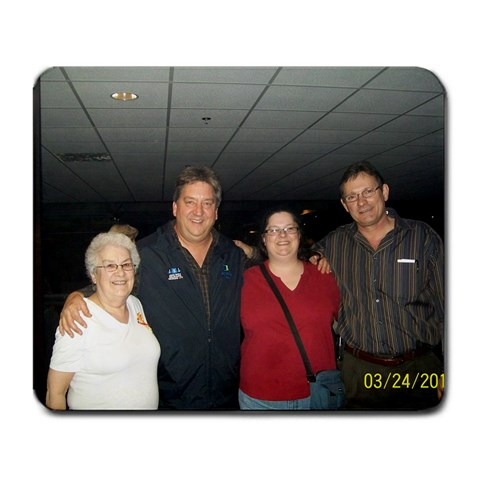 Me & Mom At Carrie Underwood Concert By Peggy Pothier   Large Mousepad   Lxwmfsw2svhi   Www Artscow Com Front