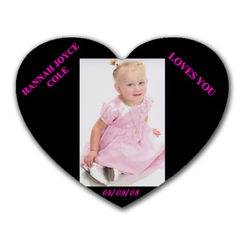 Hannah By Belinda Hotz   Heart Mousepad   Jedwdcag92xr   Www Artscow Com Front