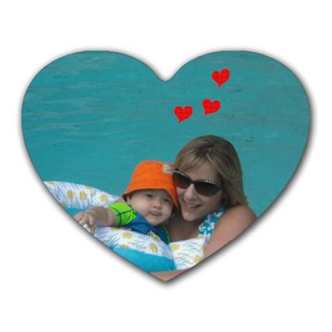 Me And Kyle By Jrennifer Witkowski   Heart Mousepad   Jwsi55iz91rk   Www Artscow Com Front