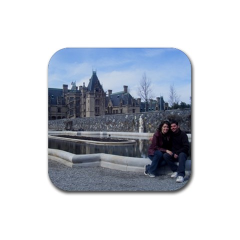 Pat & Kat At The Castle Costers By Kate   Rubber Coaster (square)   Ps7lxh8rmnop   Www Artscow Com Front