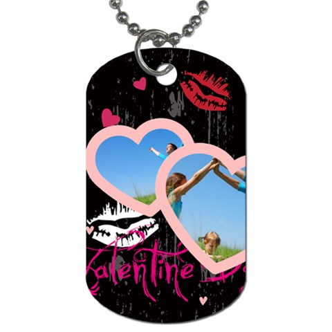 Love Tag By Wood Johnson   Dog Tag (one Side)   Z8y42ffxj092   Www Artscow Com Front