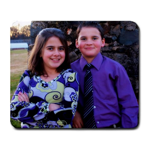 Charli Rene  & Luke Tyree 2010 By Tammy Walters Tyree   Large Mousepad   1p89jzsnzof1   Www Artscow Com Front