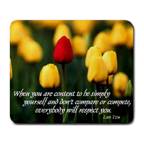 Simply Be Yourself Mousepad By Linda Clineman   Large Mousepad   Rj61kubythb1   Www Artscow Com Front