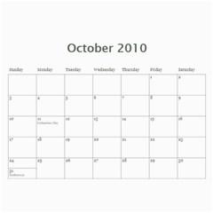 Beckypaul By Debbie   Wall Calendar 11  X 8 5  (12 Months)   Akvt829a0hnv   Www Artscow Com Oct 2010