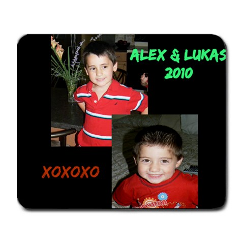 Alex & Lukas 2010 By Lili   Collage Mousepad   2hilxoohlsep   Www Artscow Com 9.25 x7.75 Mousepad - 1