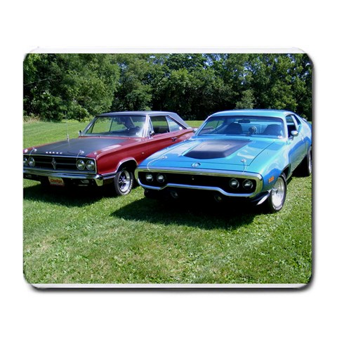 Plymouth Roadrunner & Dodge Coronet By Thomas Cabano   Large Mousepad   O7dowsnf4g6p   Www Artscow Com Front