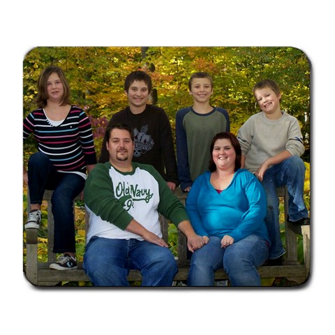 Family By Kim Hensley   Large Mousepad   4b8hlvk1f066   Www Artscow Com Front