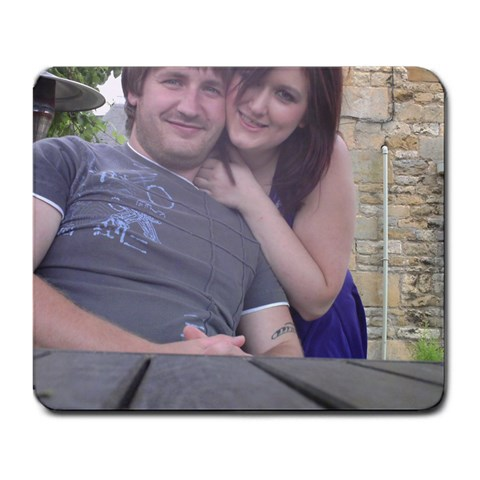 Me And Lee By Lucy Thomas   Large Mousepad   Q7lc4pbky47d   Www Artscow Com Front