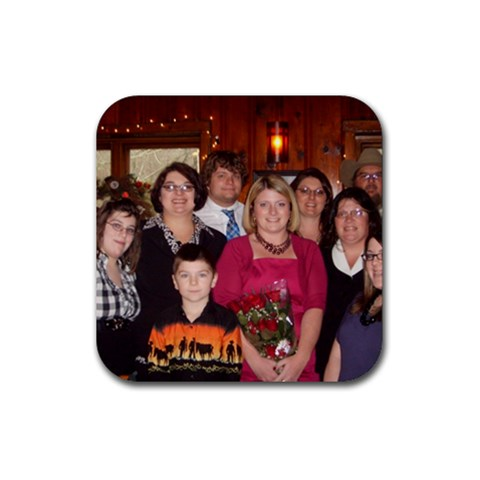 The Gang At Hall s On The River By Sherry Gay   Rubber Coaster (square)   Ftol6fa1avsq   Www Artscow Com Front