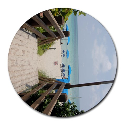 Miami Beach By April Waala   Round Mousepad   637lqpnisk2l   Www Artscow Com Front