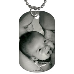 Daddy Dog Tah By Callie Pinz   Dog Tag (two Sides)   Vunl5rxbvynv   Www Artscow Com Back