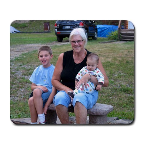 Mommom And Her Boys By Lisa Schade   Large Mousepad   Wqpn5tp0r2r1   Www Artscow Com Front