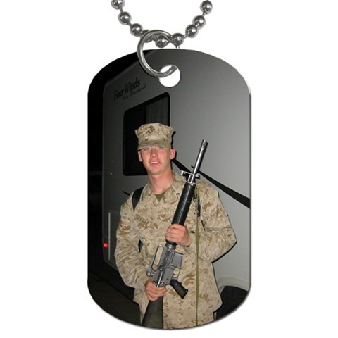 By Cassie Turner   Dog Tag (one Side)   666tjqal74dv   Www Artscow Com Front