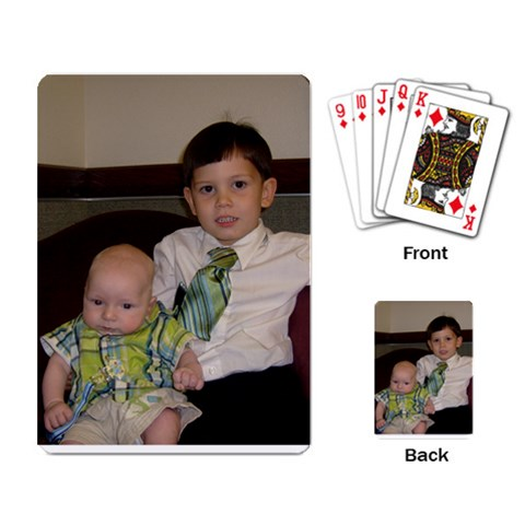 Bryce & Alex 1 By Sarah   Playing Cards Single Design   6mwi2zwd56rv   Www Artscow Com Back