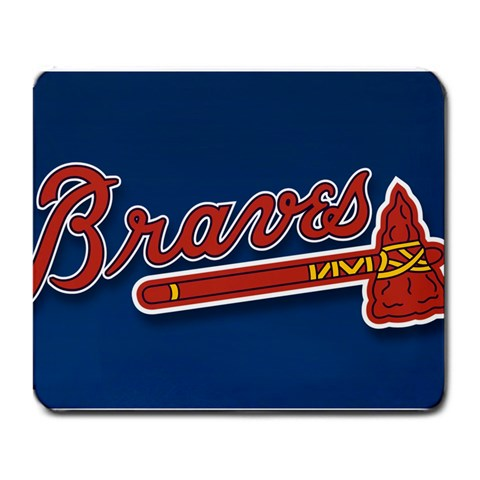 Atlanta Braves Mousepad By Sharon Fisher   Large Mousepad   Rnor1b9xiyg7   Www Artscow Com Front
