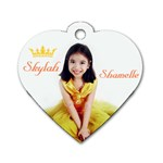 Skylah s Heart-Shaped dog tag - Dog Tag Heart (Two Sides)