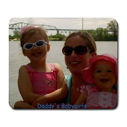 Babygirls Mousepad By Amy Jane Troupe Maciel   Collage Mousepad   Ba2zwgyl40a4   Www Artscow Com 9.25 x7.75 Mousepad - 1