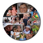 My 100% free mousepad - Collage Round Mousepad