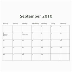 Our Calendar 2010 By Ramona   Wall Calendar 11  X 8 5  (12 Months)   Tzd7p0e9pfux   Www Artscow Com Sep 2010