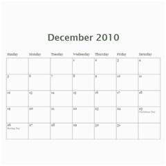 Our Calendar 2010 By Ramona   Wall Calendar 11  X 8 5  (12 Months)   Tzd7p0e9pfux   Www Artscow Com Dec 2010