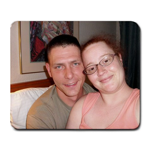 Daniel And I In Huntsville By Riquita Wagner   Large Mousepad   I4phwvof51s7   Www Artscow Com Front
