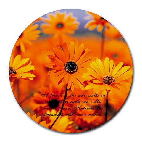 Melissa1 By Melissa Palmer   Round Mousepad   2fir55xkp2sn   Www Artscow Com Front