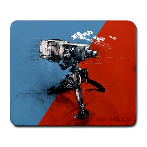 Sentry By Slippery Jim   Large Mousepad   Dpfgr4hebtz1   Www Artscow Com Front