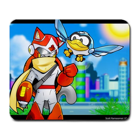 Proto Man Leo By Kurt Collier   Large Mousepad   T2o39y4dg3y1   Www Artscow Com Front
