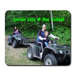 Lovin life at the cabin - Collage Mousepad