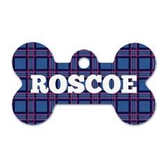 Roscoes New Tag By Emi Adrienne Germain   Dog Tag Bone (two Sides)   Po2okyut1w16   Www Artscow Com Front