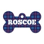 Roscoes new tag - Dog Tag Bone (Two Sides)