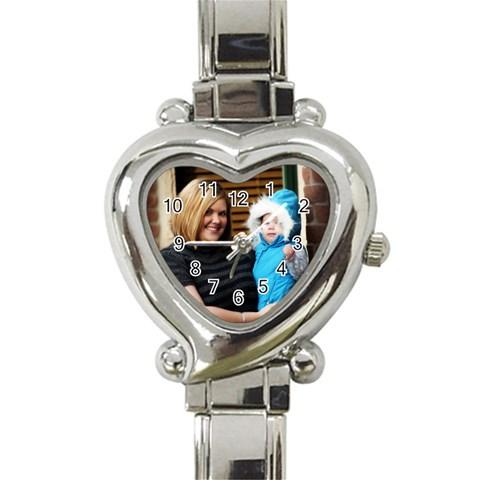 Heart Watch By Brittni Bunce   Heart Italian Charm Watch   5wy6zhizb2o2   Www Artscow Com Front