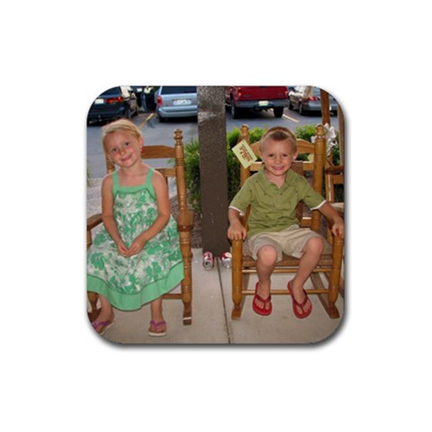 Kids Coaster  By Faith Hale   Rubber Coaster (square)   G6e1oy2myhum   Www Artscow Com Front