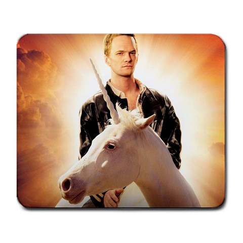 Neil Patrick Harris On A Unicorn By Gregory Jones   Large Mousepad   V8sg0i7bc9jc   Www Artscow Com Front