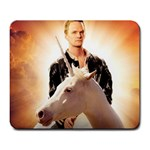 Neil Patrick Harris on a Unicorn - Large Mousepad