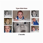 COLLAGES OF WYATT AT 3 MONTHS - Collage 8  x 10