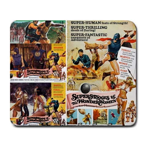 Amazons And Supermen Mousepad By David Zuzelo   Large Mousepad   8aj4p8tx4i1r   Www Artscow Com Front