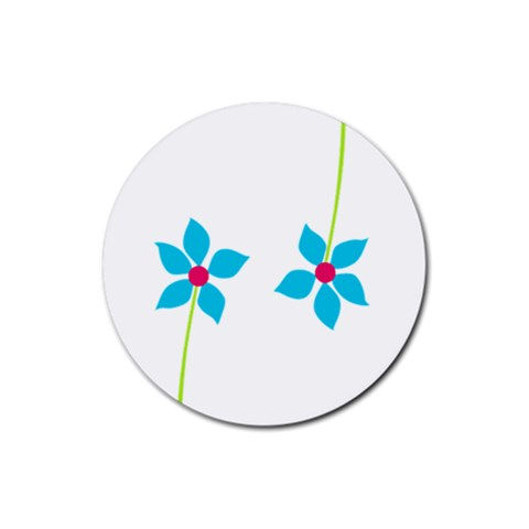 Spring Set Coaster 3 By J   Rubber Coaster (round)   Vjskxbsji8bj   Www Artscow Com Front