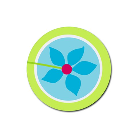 Spring Set Coaster 1 By J   Rubber Coaster (round)   4cxqe18dqkmd   Www Artscow Com Front